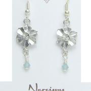 Narcissus Flower Earrings Pewter December Flower