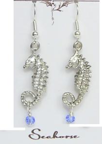 Seahorse Earrings Pewter