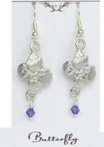Butterfly Earrings Pewter
