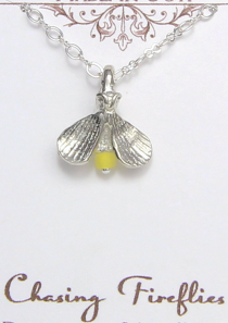 Chasing Firefly Necklace Pewter