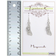 Masquerade Mask Earrings Pewter