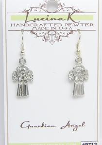 Guardian Angel Earrings Pewter