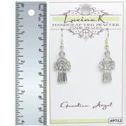 Guardian Angel Earrings Pewter - Lucina K.