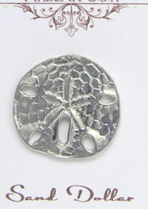 Sand Dollar Magnetic Scarf Pin