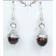 Acorn Earrings Pewter