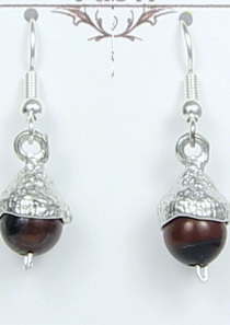 Acorn Earrings Pewter