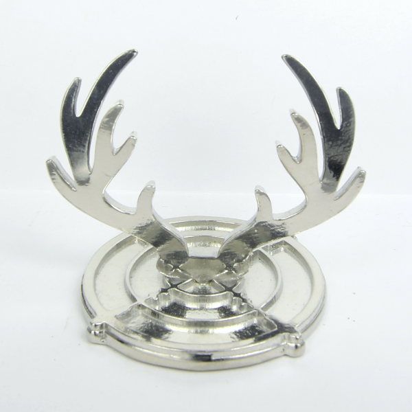 Antlers and Scope Ring Holder Pewter